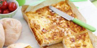 Clafoutis au jambon et aux maroilles léger