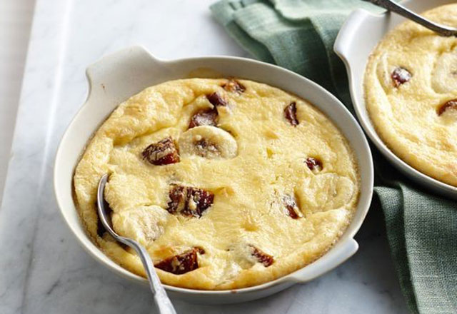 Clafoutis aux bananes et dattes Weight Watchers