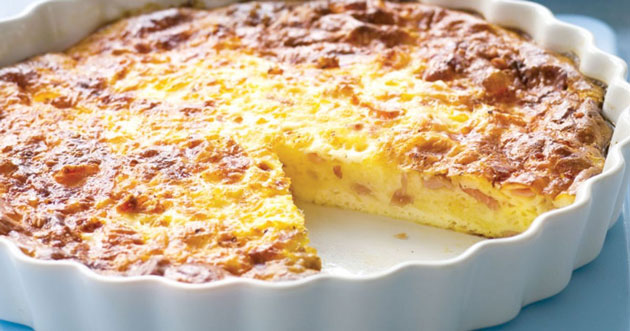 Quiche lorraine sans pâte Weight Watchers