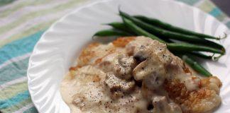 filets de poisson aux champignons à la crème