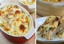 Gratin de poisson aux champignons Weight Watchers