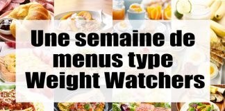 Une semaine de menus type Weight Watchers