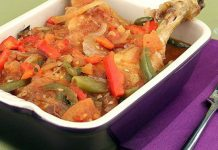 Poulet basquaise Weight Watchers
