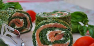 Roulé aux épinards saumon et Boursin au Thermomix