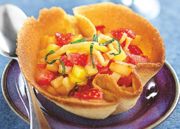 Salade de fruits à la menthe légère