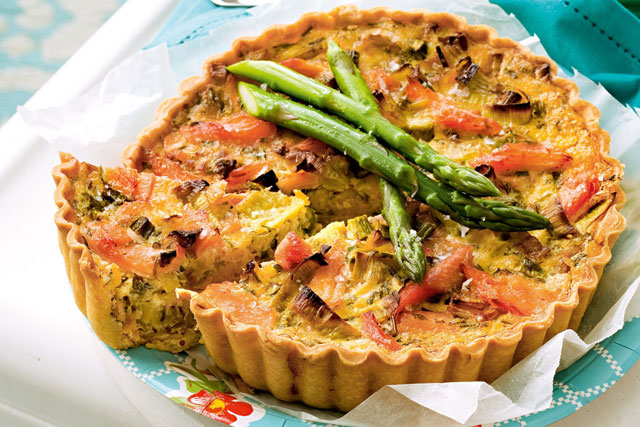 tarte au saumon et poireaux Weight Watchers