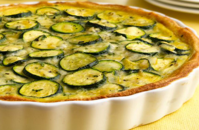 tarte sans pâte aux courgettes légère