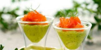 Verrine d'avocat et saumon au Thermomix