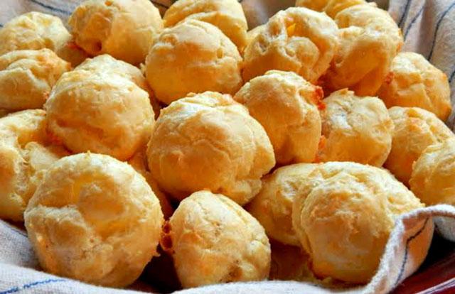 Gougères légères au fromage