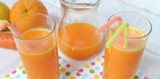 Jus ACE (carotte, orange, citron) au Thermomix