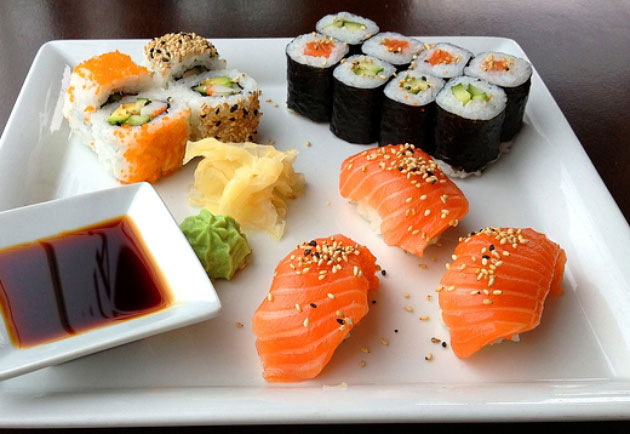 sushis et maki à 1 sp Weight Watchers