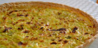 tarte aux poireaux, thon et moutarde WW
