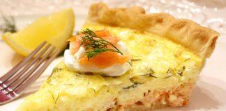 tarte de saumon au boursin ail et fines herbes WW