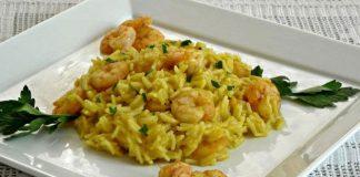 Risotto aux crevettes et au curry avec Thermomix