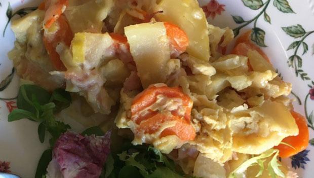 gratin de légumes d'hiver léger WW