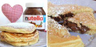 pancakes fourrés au Nutella avec Thermomix