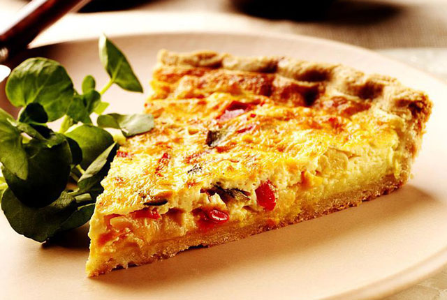 quiche ratatouille et lardons WW