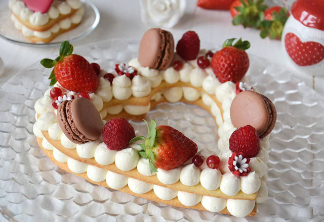 tarte à la crème mascarpone en forme de coeur avec Thermomix