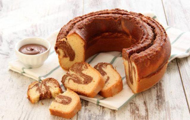 Cake marbré au nutella avec Thermomix