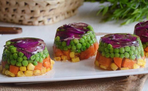 Terrine de légumes en gelée avec Thermomix