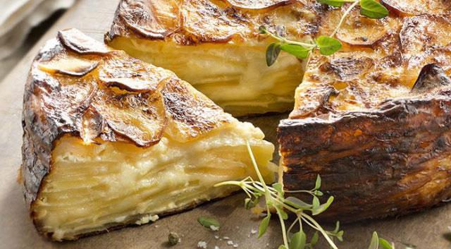 gâteau invisible aux pommes de terre avec Thermomix