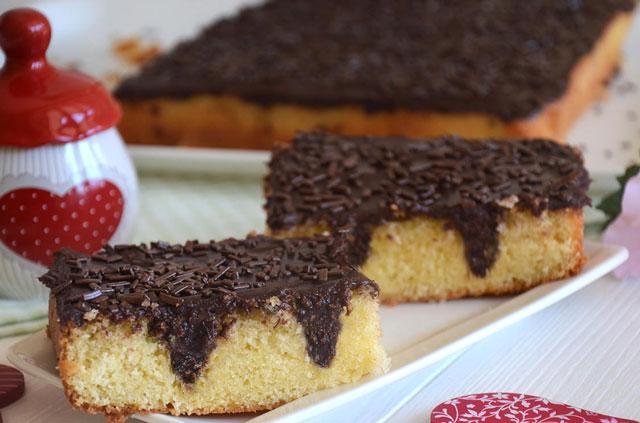 gâteau poke au chocolat avec Thermomix