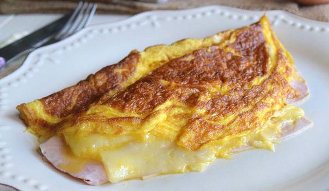 Omelette jambon-emental WW
