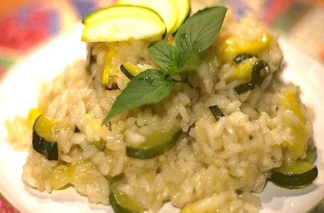 risotto aux courgettes et au curry au Thermomix