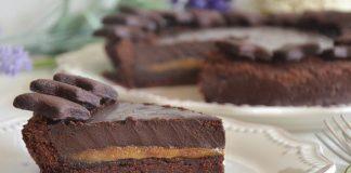 tarte au chocolat et caramel au beurre salé avec Thermomix