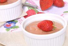Crème dessert aux fraises avec Thermomix