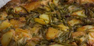 Omelette aux asperges sauvages et aux pommes de terre WW