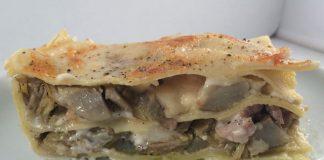 Lasagnes aux artichauts, champignons et jambon WW