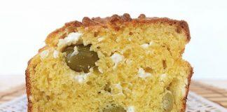 Cake aux olives et à la feta avec Thermomix