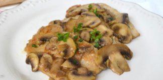 Escalopes de boeuf aux champignons WW