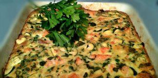 clafoutis aux courgettes et Saumon WW