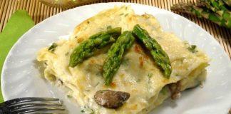lasagnes aux asperges et aux champignons WW
