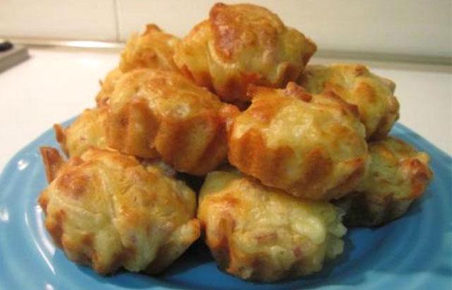 muffins aux lardons et oignons avec Thermomix
