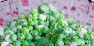 Salade de petits pois à la feta au Thermomix