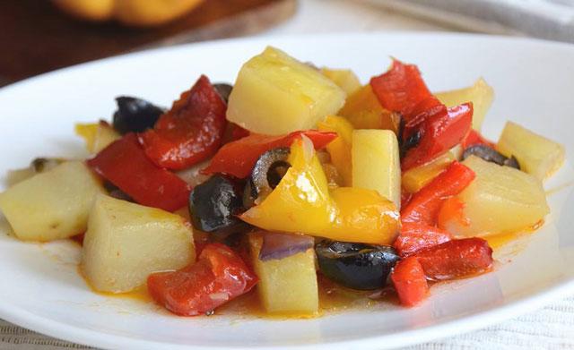 Mijoté de pommes de terre et poivrons WW