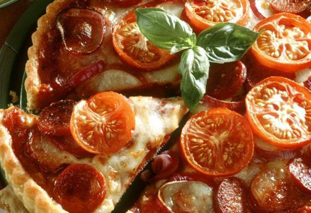 Tarte aux tomates et chorizo WW