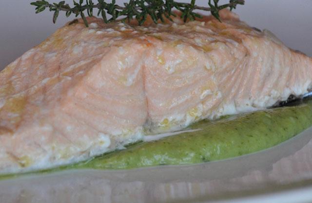 saumon à la crème de brocoli au Thermomix