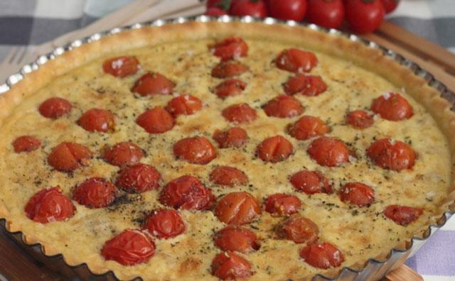 Tarte au thon et aux tomates cerises WW