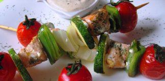 Brochettes de Saumon au Varoma