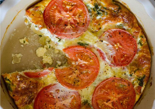 quiche sans pâte à la tomates WW