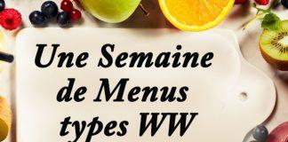 une semaine de menus types ww
