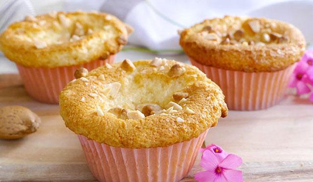 Muffins aux amandes et chocolat blanc au Thermomix