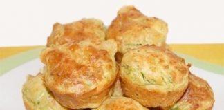 Muffins à l'aubergine et au fromage