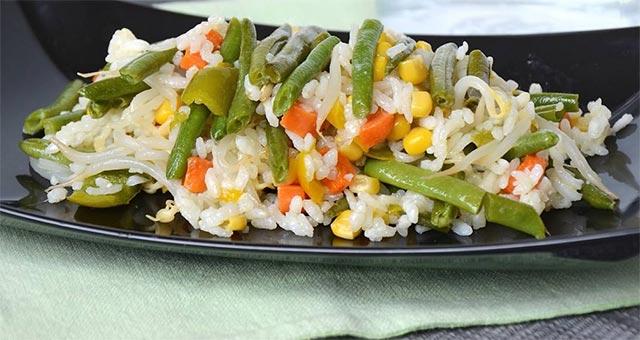 Salade de riz végétarienne ww