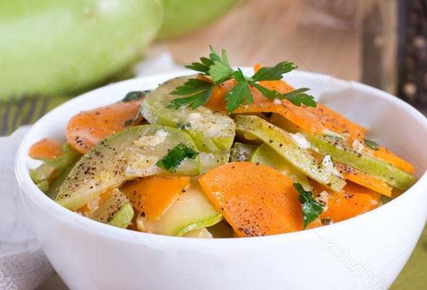 carottes et courgettes vichy au Thermomix