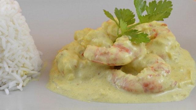 Crevettes au Curry et au Yaourt WW